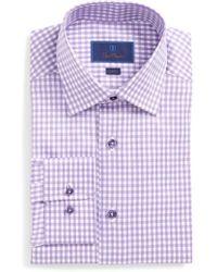 David Donahue   Slim Fit Check Dress Shirt   Lyst