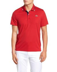 Lacoste - Sport Piped Pique Tech Polo - Lyst