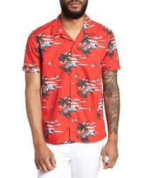 Ted Baker - Slim Fit Tropical Pattern Sport Shirt - Lyst