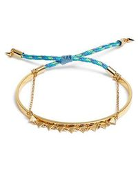 Rebecca Minkoff | Ellie Layered Triangle Bracelet | Lyst