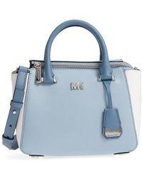 Michael Kors - Michael Mini Leather Messenger Bag - Lyst