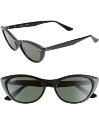 Ray-Ban - Nina 54mm Cat Eye Sunglasses - Havana/ Brown Solid - Lyst