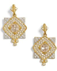 Freida Rothman | Visionary Fusion Pave Drop Earrings | Lyst