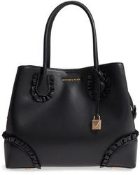 MICHAEL Michael Kors - Mercer Gallery Leather Satchel - Lyst