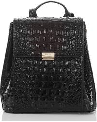 Brahmin - Margo Croc Embossed Leather Backpack - - Lyst