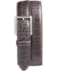 Bosca - Embossed Leather Belt - Lyst