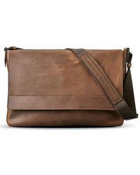 Shinola - Leather E/w Messenger Bag - Lyst
