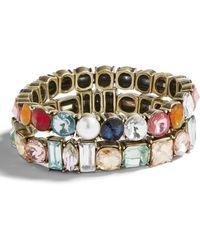 BaubleBar - Set Of 2 Crystal Stretch Bracelets - Lyst