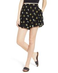 BP. - Floral Print Pleated Shorts - Lyst