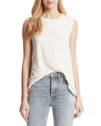 The Great - 'the Sleeveless' Crewneck Tank - Lyst