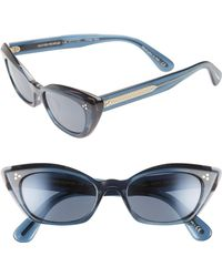 e5e515cdd8d6 Oliver Peoples - Bianka 51mm Cat Eye Sunglasses - Indigo Tortoise - Lyst