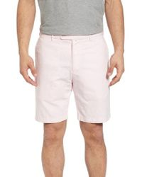 Peter Millar - Crown Cool Delave Flat Front Shorts - Lyst