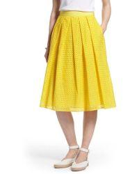 Nordstrom - 1901 Eyelet A-line Skirt - Lyst