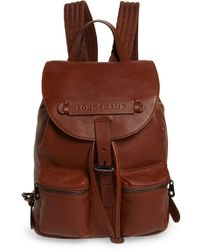 f91689c8c181 Longchamp - Small 3d Leather Backpack - - Lyst