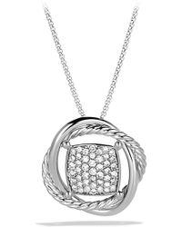 David Yurman - 'infinity' Pendant With Diamonds On Chain - Lyst