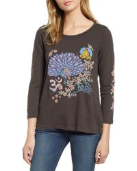 Lucky Brand - India Embroidered Tee - Lyst