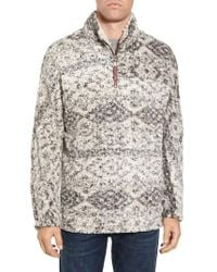 True Grit - Print Frosty Tipped Quarter Zip Pullover - Lyst