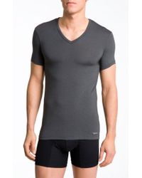 CALVIN KLEIN 205W39NYC - 'u5563' V-neck Micromodal T-shirt - Lyst
