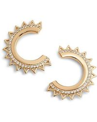 Melanie Auld - Triangle Spike Hoop Earrings - Lyst