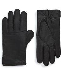 BOSS - Kanton Leather Gloves - Lyst