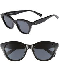 Le Specs - Wannabae 49mm Angular Sunglasses - Lyst