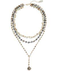 Ela Rae - Multistrand Y-necklace - Lyst