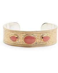 Anna Beck - Guava Quartz Medium Cuff Bracelet - Lyst