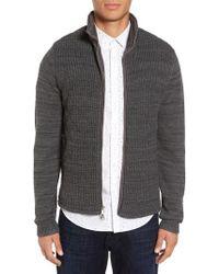 Calibrate - Mixed Media Full Zip Sweater - Lyst