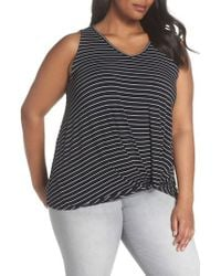 Sejour - Twisted Waist Tank Top - Lyst