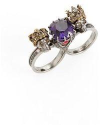 Alexander McQueen - Jewel Double Ring - Lyst