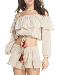Surf Gypsy | Ruffle Cover-up Top | Lyst