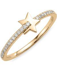 Dana Rebecca - Dana Rebecca Livi Gold Diamond Ring - Lyst