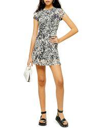 d8383cc263f94 TOPSHOP Tall Asymmetric Hem Dress in Black - Lyst
