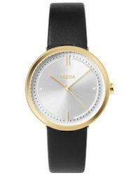 Breda - Agnes Leather Strap Watch - Lyst