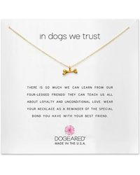 Dogeared - In Dogs We Trust Pendant Necklace - Lyst