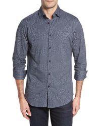 Stone Rose - Slim Fit Patchwork Print Knit Sport Shirt - Lyst