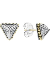 Lagos - Ksl Diamond Pyramid Stud Earrings - Lyst