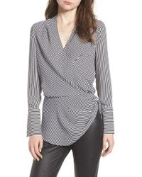Trouvé - Long Sleeve Wrap Blouse - Lyst
