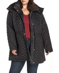 Marc New York - Quilted Coat With Detachable Hood - Lyst
