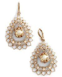 Marchesa - Open Pear Drop Earrings - Lyst