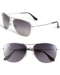 Maui Jim | Cliff House 59mm Polarizedplus2 Metal Aviator Sunglasses | Lyst