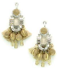 Elizabeth Cole - Olette Crystal Drop Earrings - Lyst