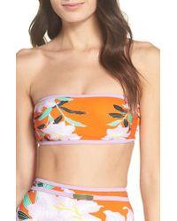 Diane von Furstenberg   Print Bandeau Bikini Top   Lyst