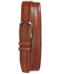 Mezlan - Lizard Leather Belt - Lyst