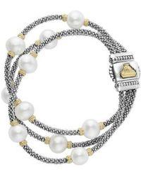 Lagos - Luna Pearl Caviar Multistrand Bracelet - Lyst