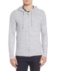 Velvet By Graham & Spencer - Modern Trim Zip Hoodie - Lyst