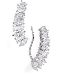 Nadri - Fanfare Crawler Earrings - Lyst