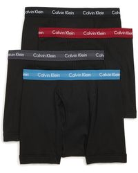 Calvin Klein - Classic 4-pack Cotton Boxer Briefs, Black - Lyst