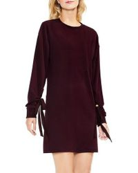 Two By Vince Camuto - Tie Sleeve French Terry Dress - Lyst