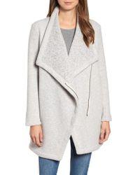 BB Dakota - Maggie Brushed Fleece Drape Collar Coat - Lyst